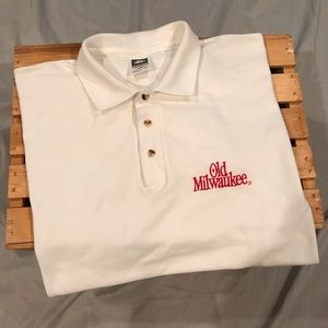 Old Milwaukee Beer Polo Shirt Size Large